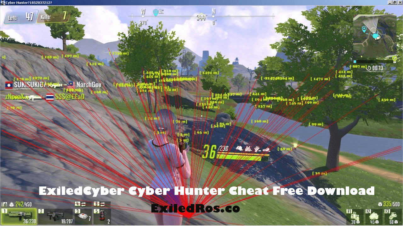 ExiledCyber Cyber Hunter Cheat Free Download